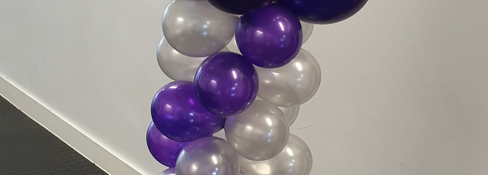 Plain Bubble column purple & silver