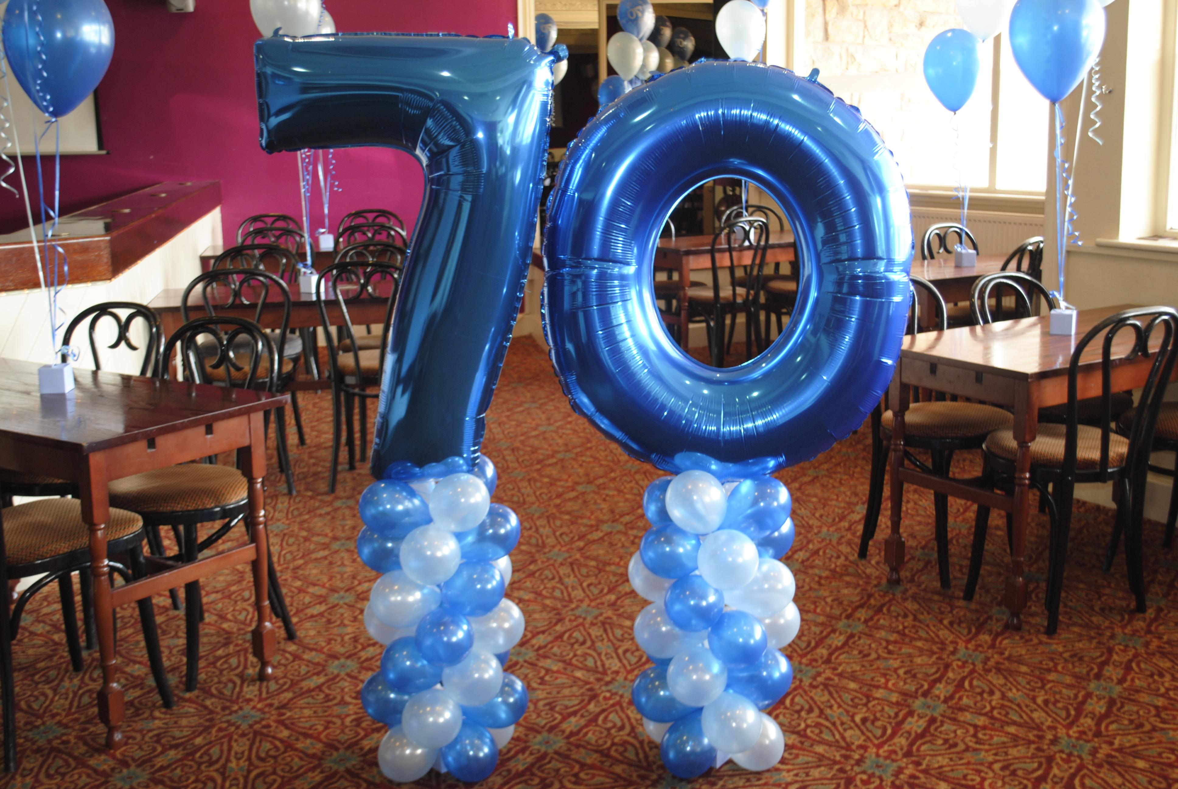 Blue Foil Number Balloon 70
