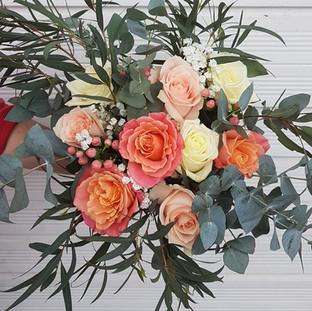 Mixed rose & Eucalyptus Bouquet
