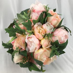 Artificial mixed peaches bridal bouquet