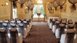 Tulle covered big round balloons