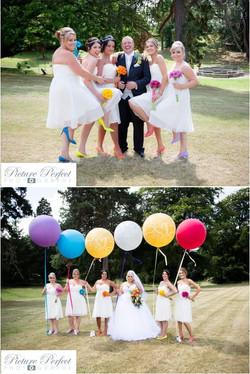 Bright big round balloons