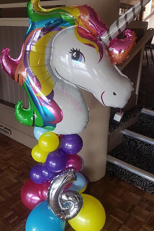 Unicorn column - Pastel, Rainbow, Sparkle, Iridescent or front facing