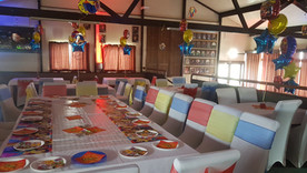 Super hero party set up