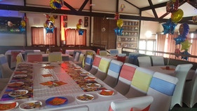 Super hero party set up