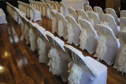 Lace hood Ivory Ruffle, Clay House