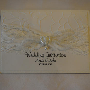 Lovely Lace Standard Invitation