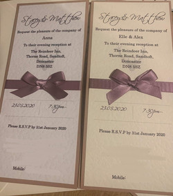 Simply Bow DL Invitation