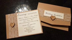 Rustic Heart Pocket fold & Evening