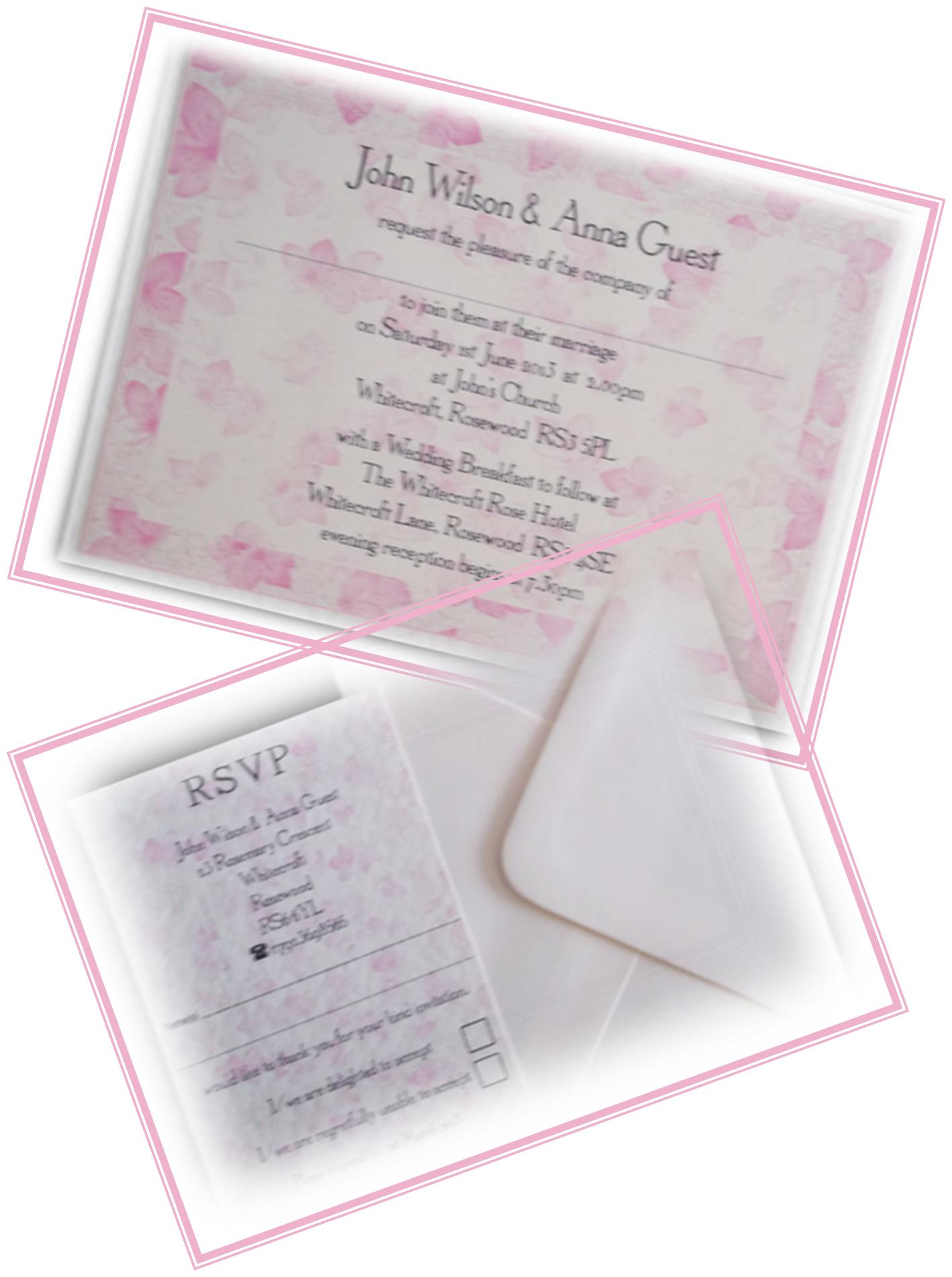 Cherry Blossom Postcard Invitation