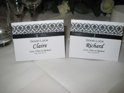 Damask Lottery Name Card Holders