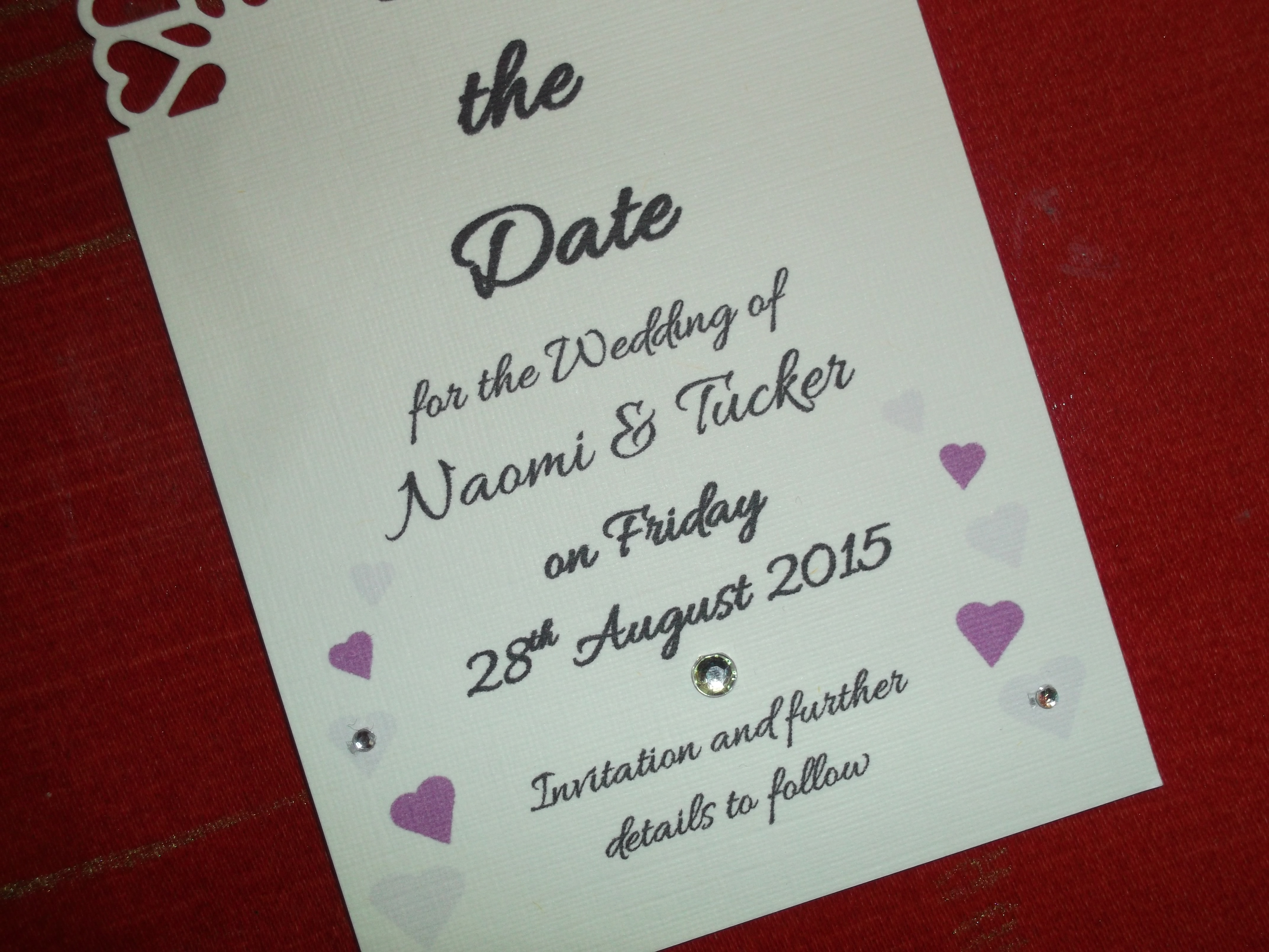 Dior Romance Save The Date Card