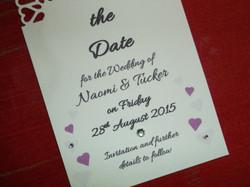 Dior Romance Save The Date Card