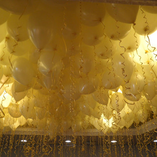Ivory ceiling balloons