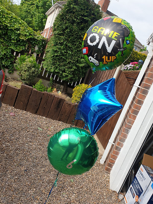 Game On Trio of Foil Balloons