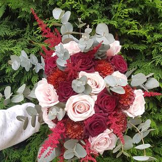 Fresh Astilbe, Dahalia & Rose Bouquet