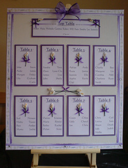 Calla Lily Table Plan