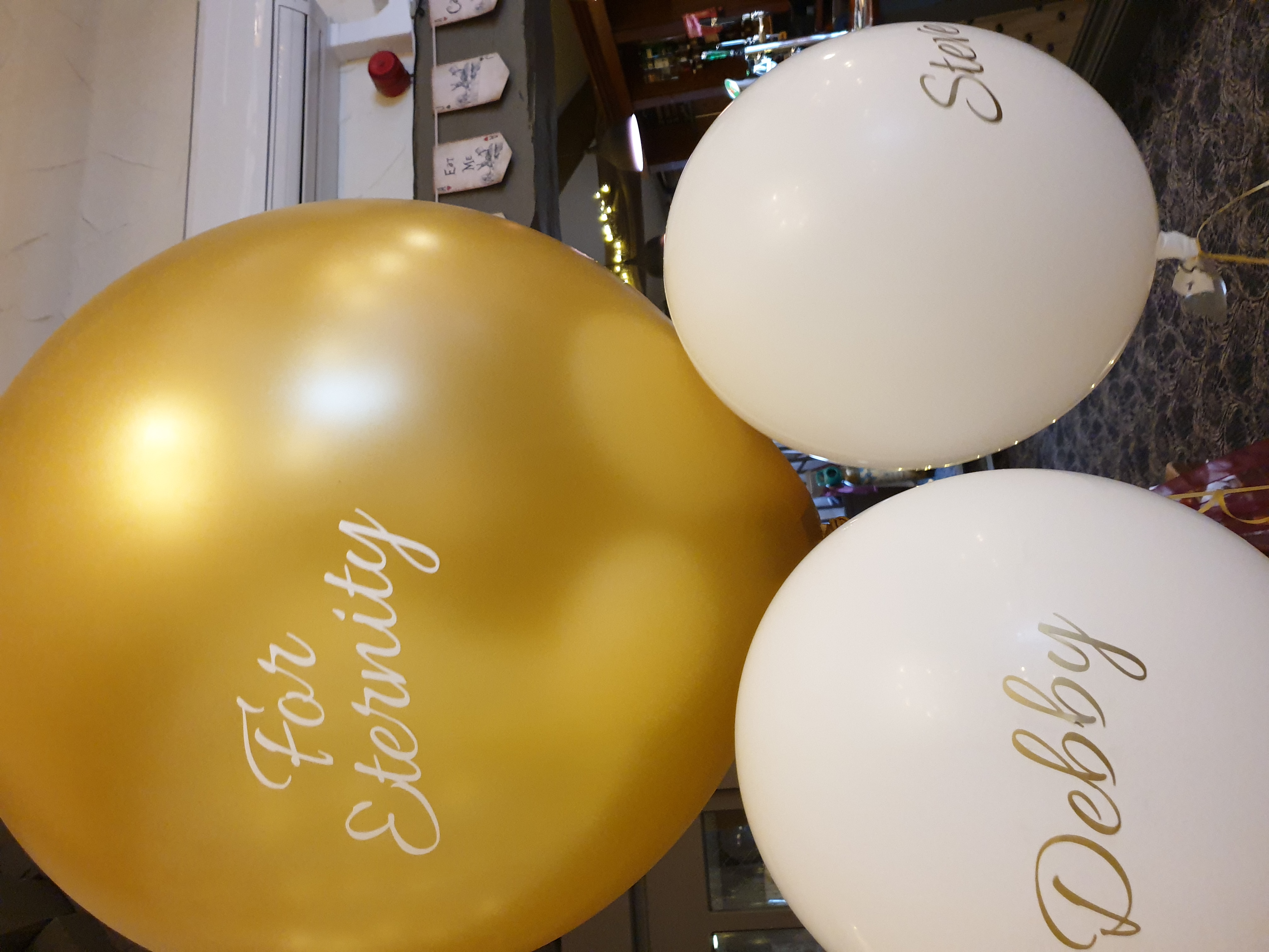 gold 3ft with 2ft white personlised