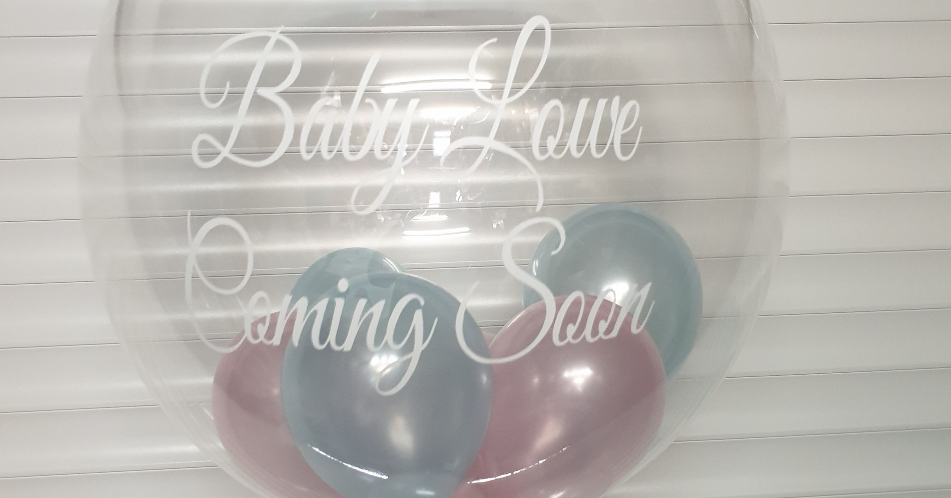 Pink & blue baby bubble balloon