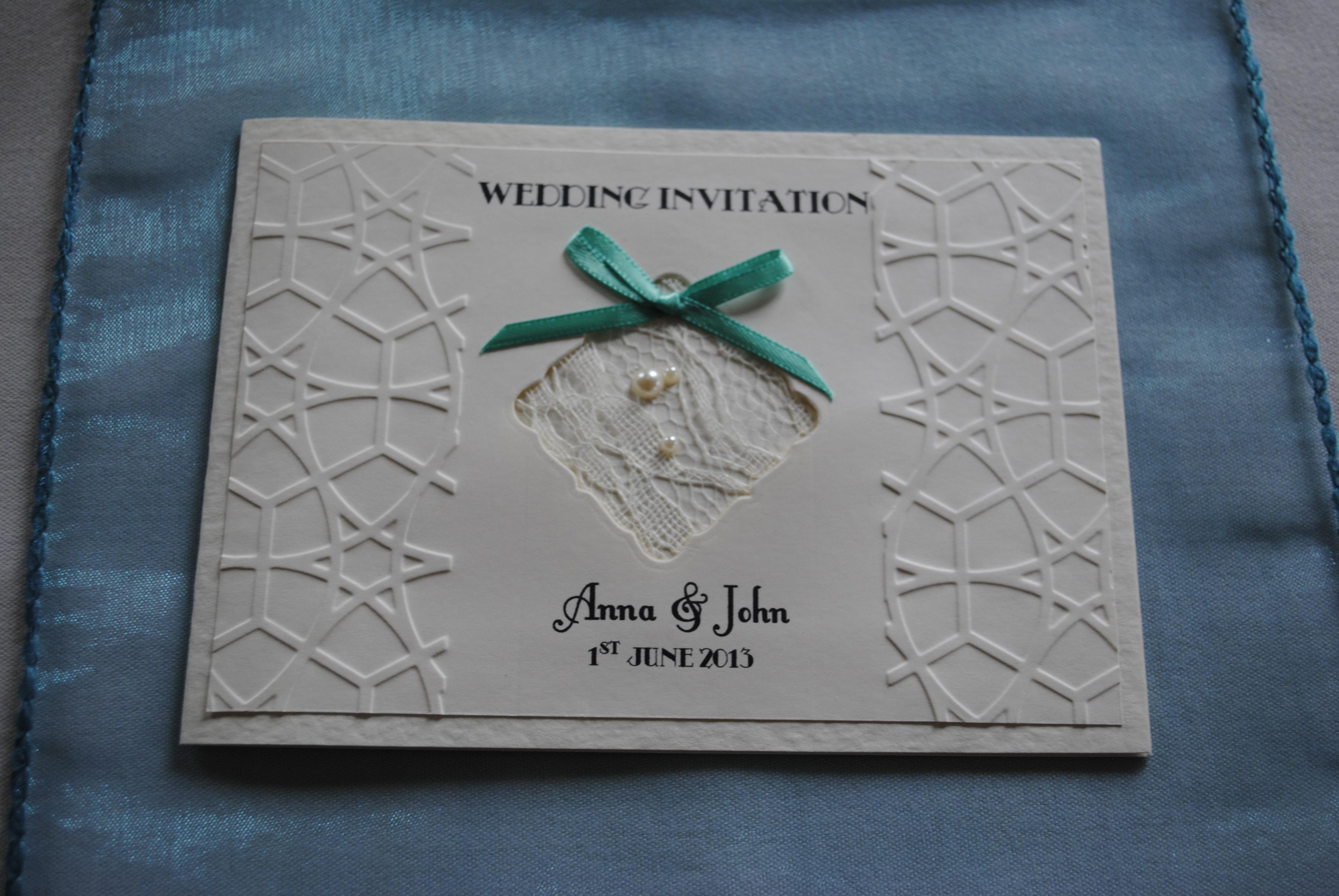 Lace Bow Standard Invitation