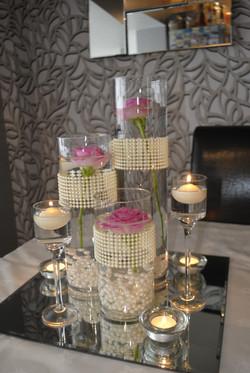 Trio of cylinder vases