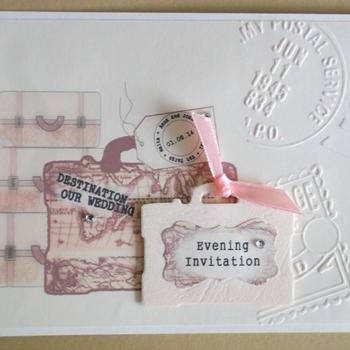 Vintage Luggage Standard Invitation