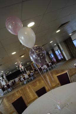 Christening Balloon Trios in Pink & Mink