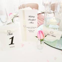 Dior Bow Table Number, Name Card & Menu