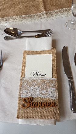 Rustic Brown Menu & Pocket