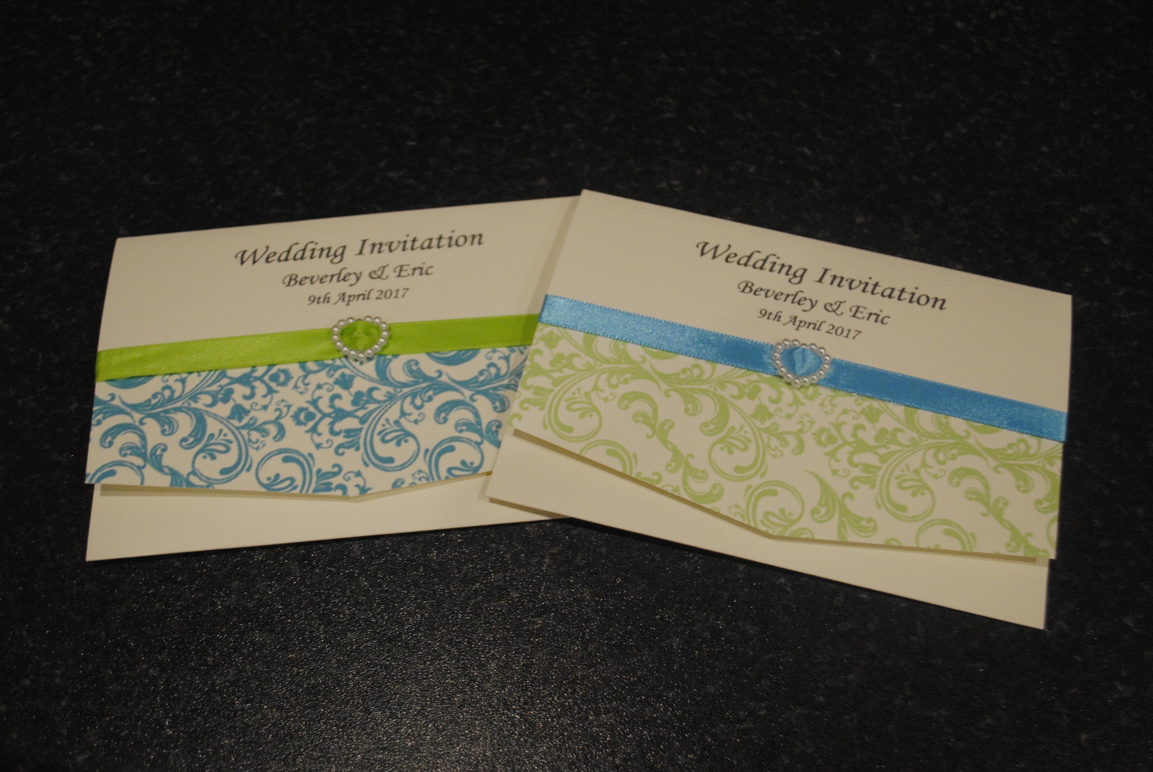 Contemporary Swirl Pocket Invite