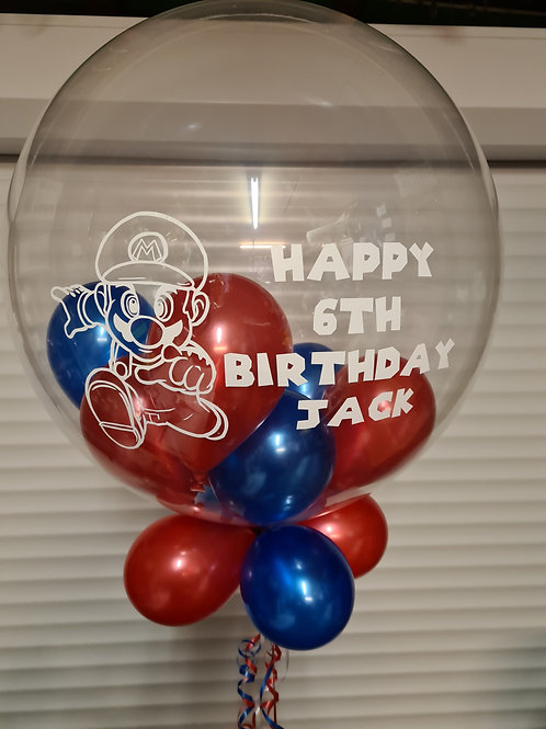 Super Mario Bubble Balloon filled with mini balloons