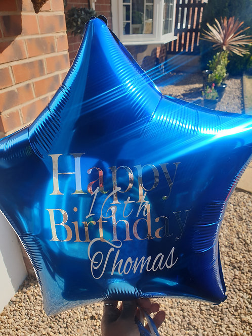 Single Foil Balloon with personlised message