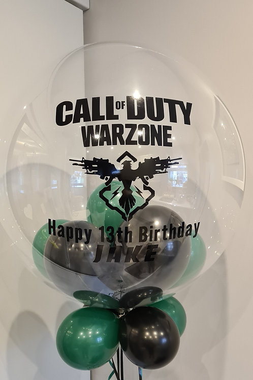 Call of Duty Bubble Balloon filled with mini balloons