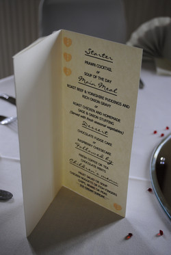 Wooden Heart Button Menu Inside