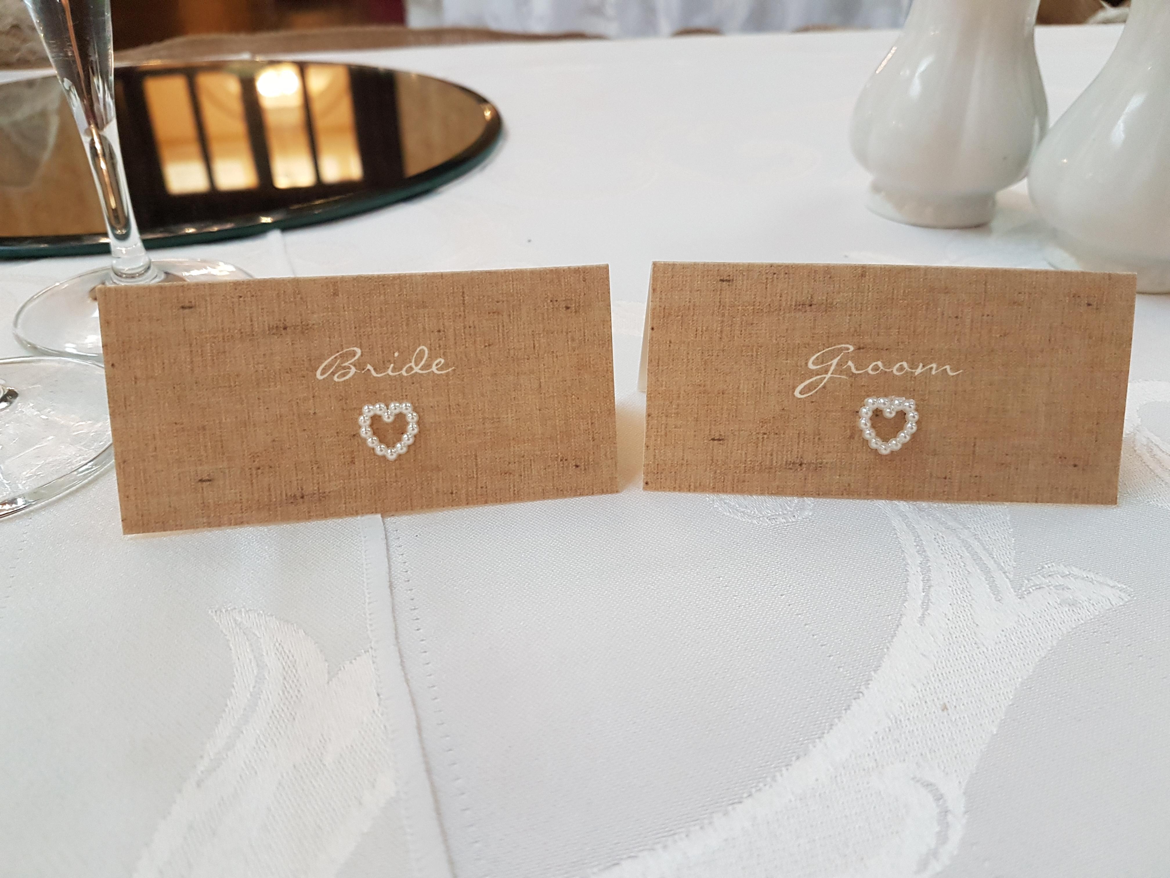 Burlap & Lace Name Cards