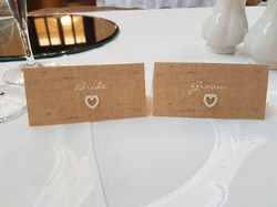 Burlap & Lace Name Cards