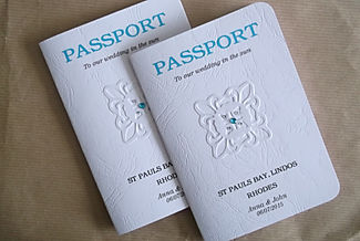 Passport Booklet Invitations