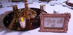 Gold Framed Vinyl Table Name