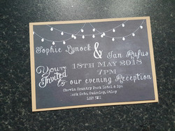 Chalk board evening invitation
