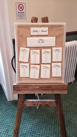 Rustic Table Plan & Easel
