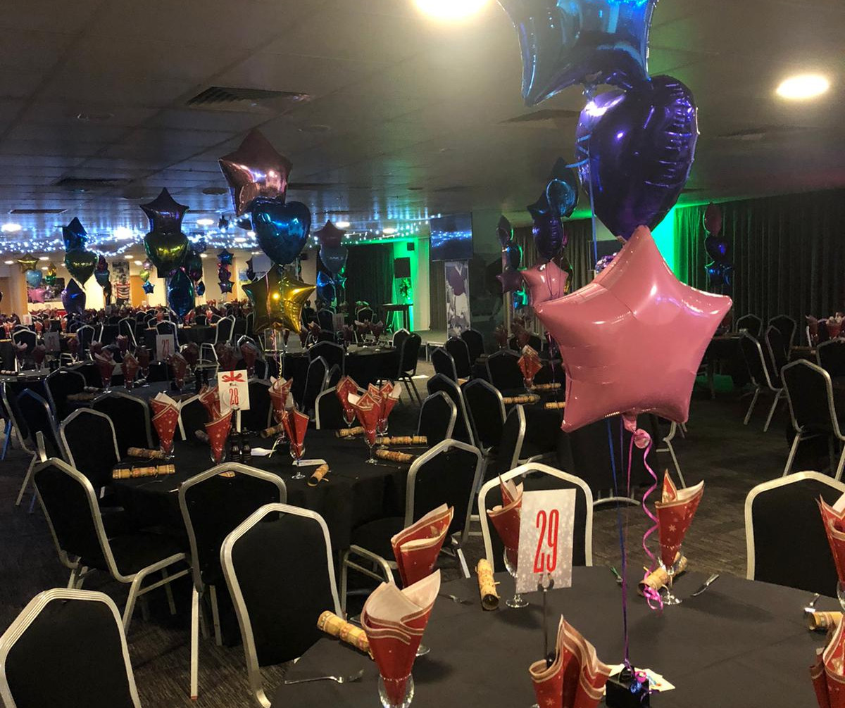 mixed brights foil trio of balloons