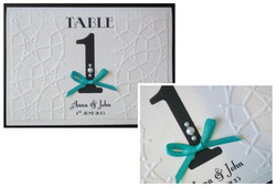 Lace Bow Table Number