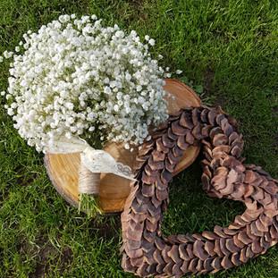 Fresh gyp only bridal bouquet