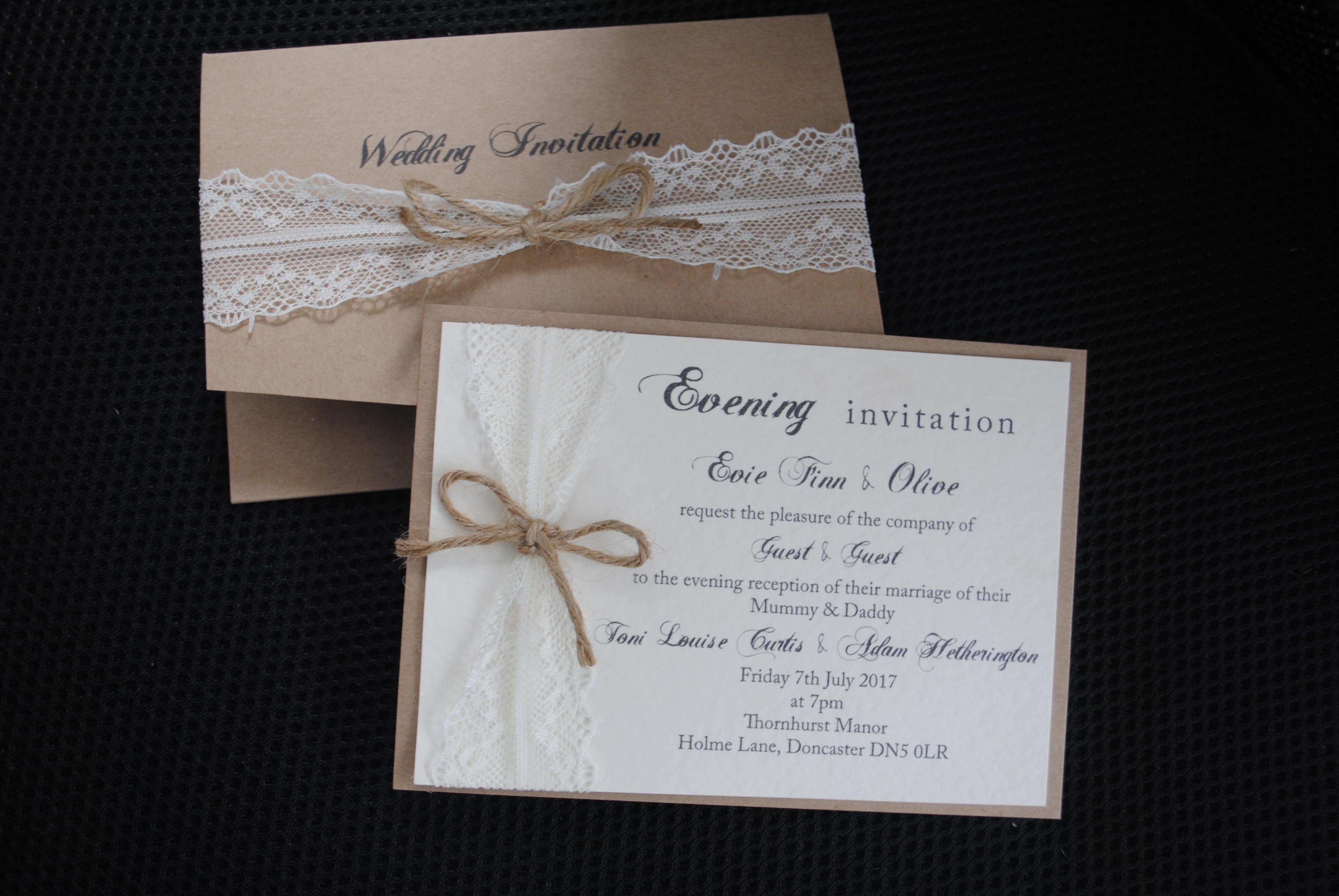 Rustic Pocket Fold & Postcard Invite