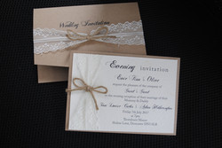 Rustic Pocket Fold & Postcard Invite