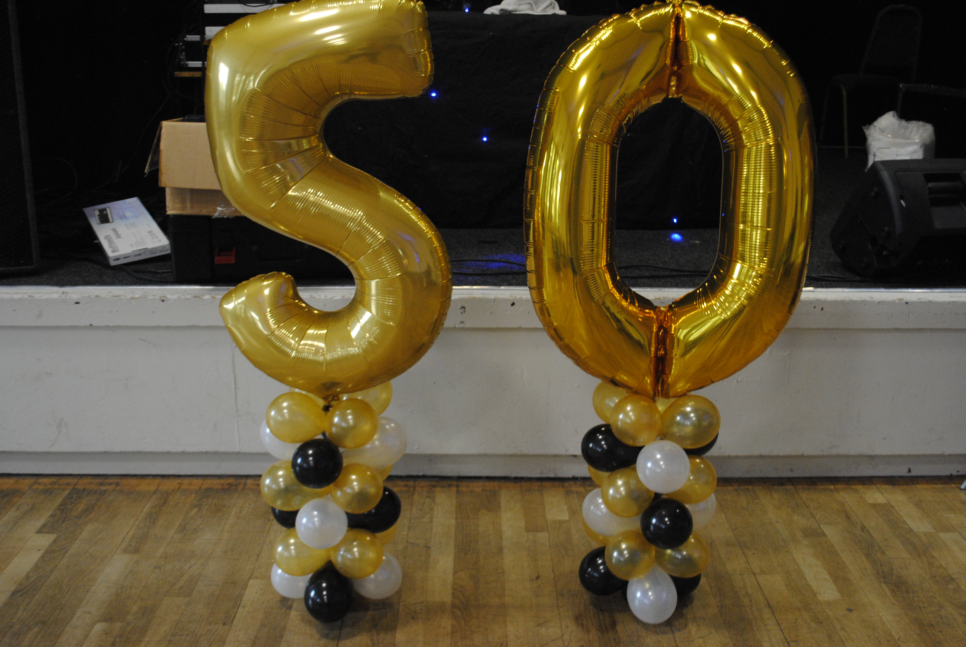Gold Foil Number Balloon 50