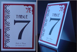 Art Deco Table Number