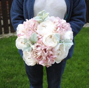Artificial Hydrangea & Peony bridal bouquet