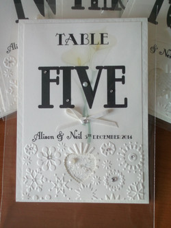 Calla Lace Table Number