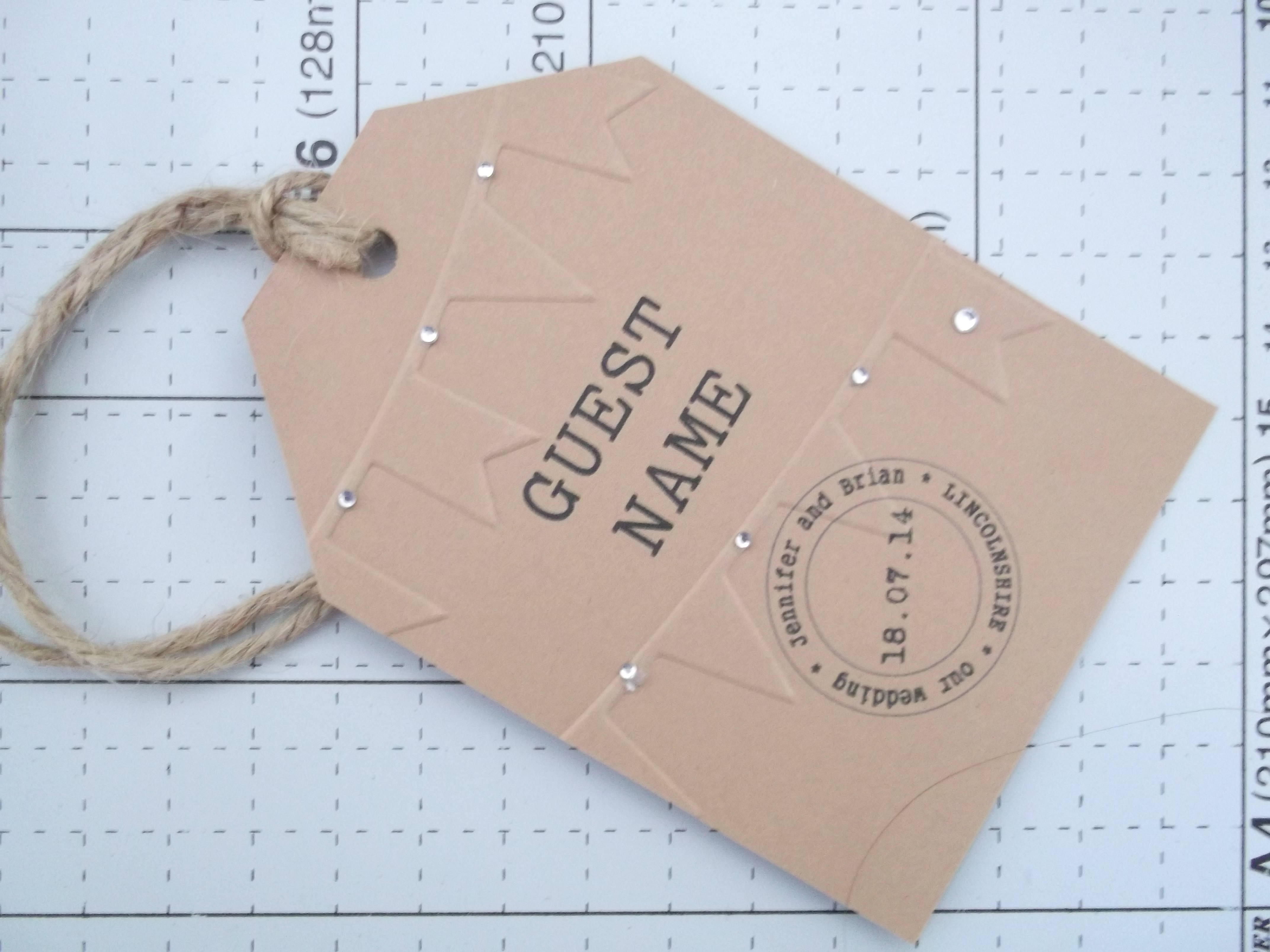 Ration Book Luggage Name Card